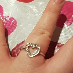 New silver plated Mickey Mouse heart ring